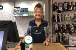 Erna working at Lakeland
