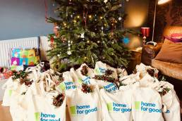 Goody bags under christmas tree