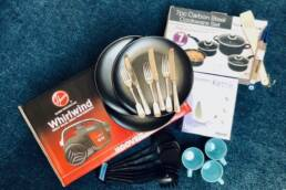 Furniture Project starter pack with pans, cutlery, mugs etc
