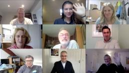 Genesis Trust team on zoom meeting