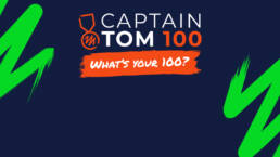 A banner of the Captain Tom 100 challenge event.