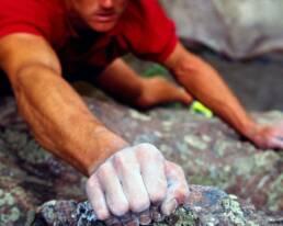 Man rock climbing.