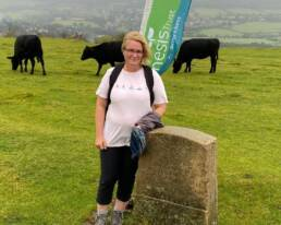 Hilary Long standing on Salisbury Hill.
