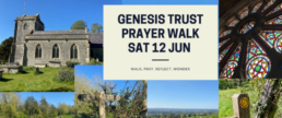 Genesis Trust Prayer Walk with pictures of the countryside around Bath.
